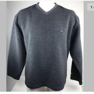 90's Tommy Hilfiger Fleece Pullover LS V-Neck